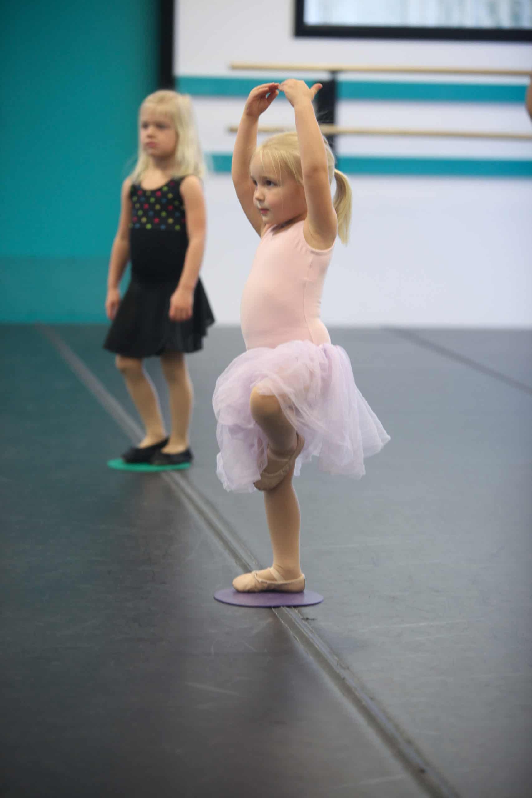 Dancer balancing