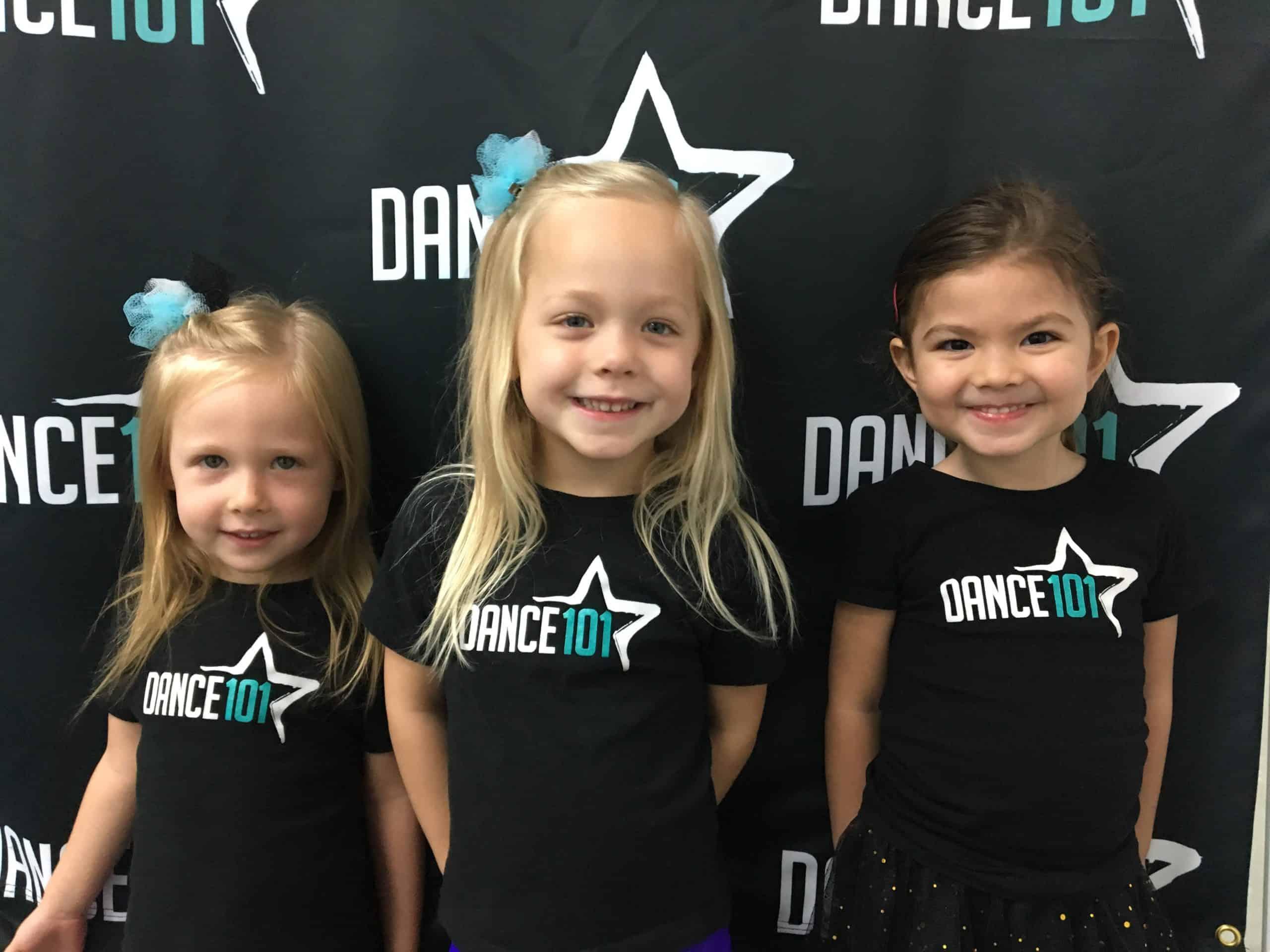 Dancer Wearing Matching Dance 101 Shirts
