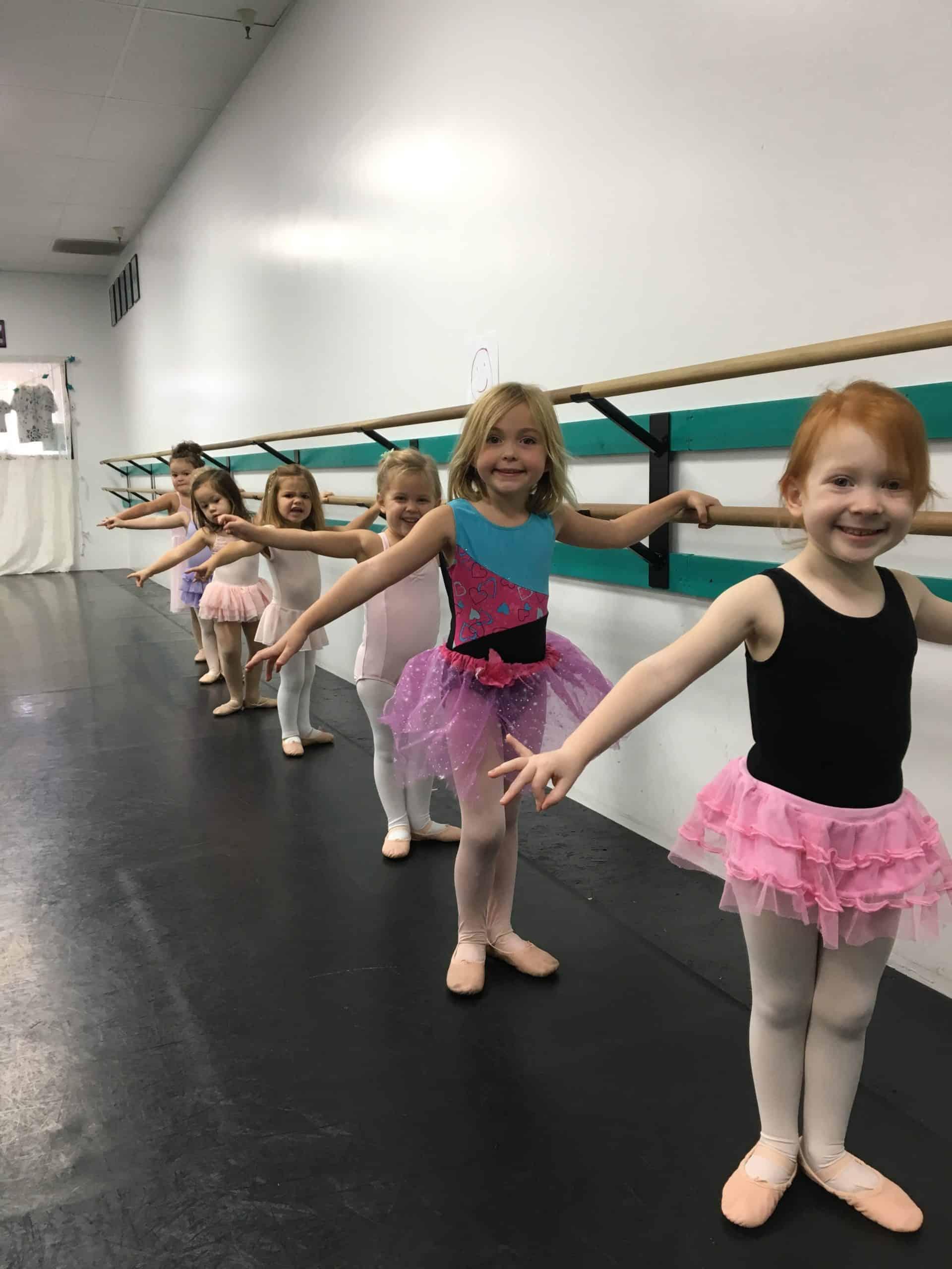 D101 Dancers at barre
