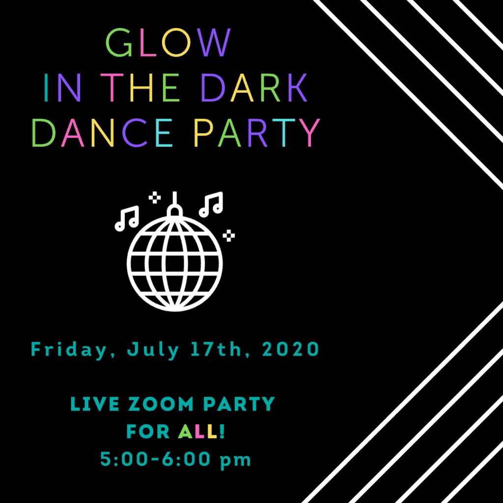 Virtual Glow in the Dark Dance Party