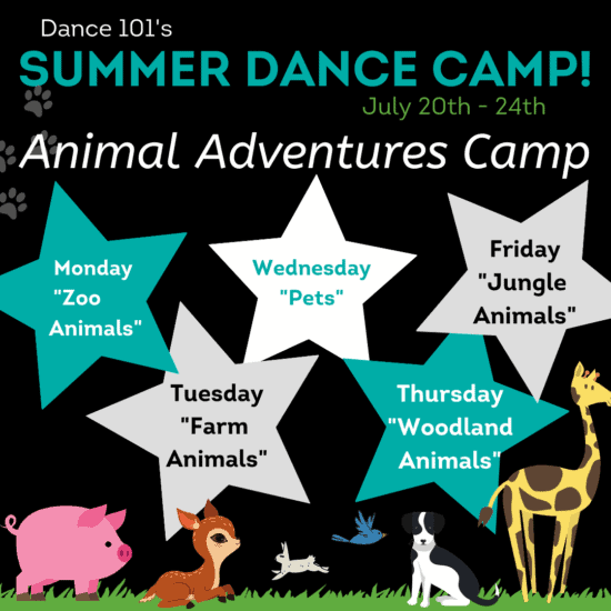 D101 Animal Adventures Dance Camp