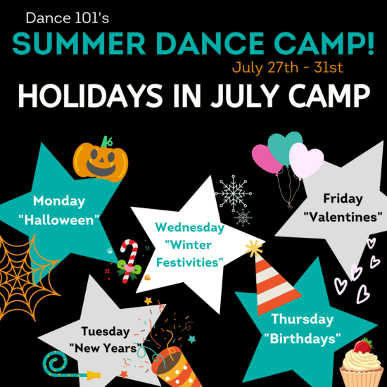 D101 Holidays in July Dance Camp